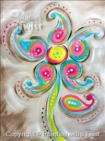 paint with a twist jackson paisley flower paisley and flower paintings on