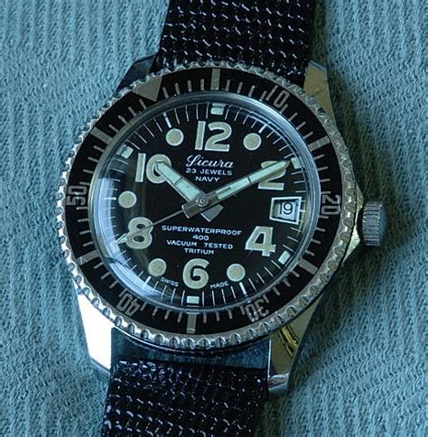 3933 sicura navy 400 submariner type diving a