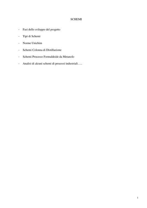 impianti chimici dispense processi industriali schemi dispense