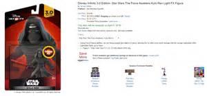 Disney Infinity Code 5 Light Fx Kylo Ren Preorders At Disney