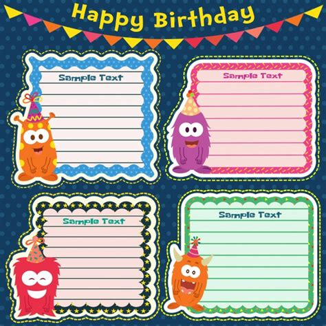 Birthday Card Template Freepik by Birthday Cards Template Vector Free