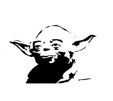 Yoda Drawing Outline by Yoda Black And White Clipart Clipart Suggest