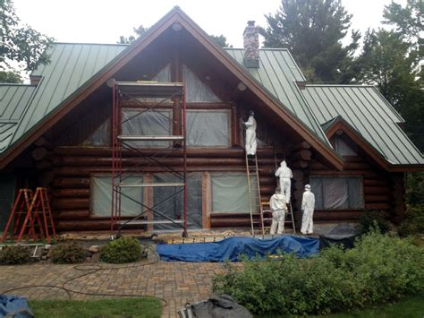 log home re staining wisconsin minnesota illinois