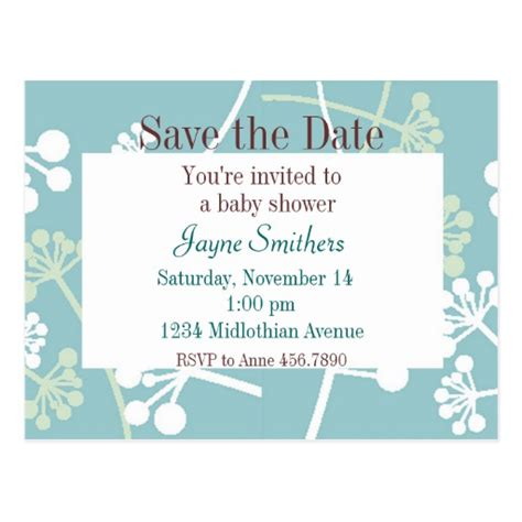 save the date templates for baby shower save the date baby shower postcard zazzle