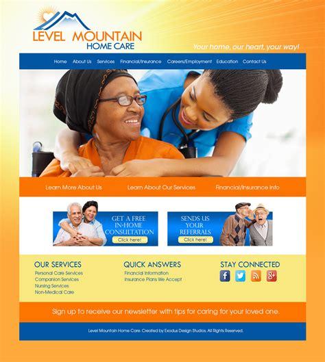 Custom Web Design For Home Health Care Level Mountain Home Care Exodus Christian Web Graphic