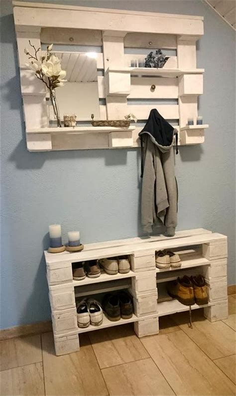 garderobe aus paletten ᐅ schuhregal aus paletten tipps palettenm 246 bel ideen