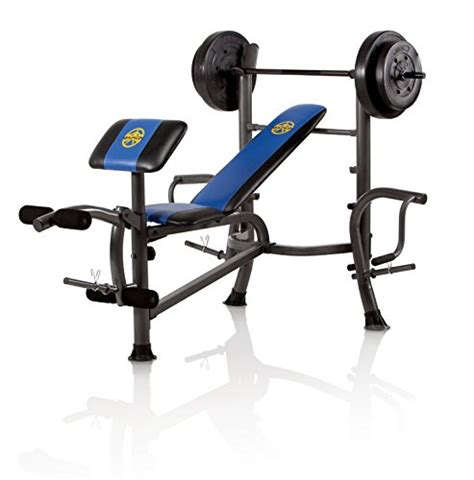 marcy diamond weight bench with 80 lb weight set marcy opp bench and 80 pound weight set