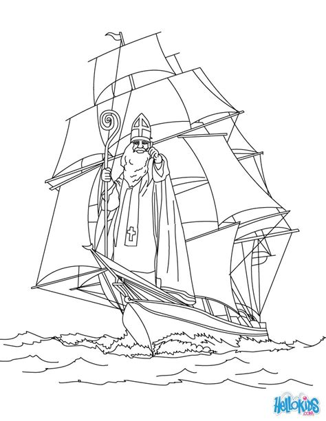 coloring pages of christmas in germany legend of saint nicholas coloring pages hellokids com