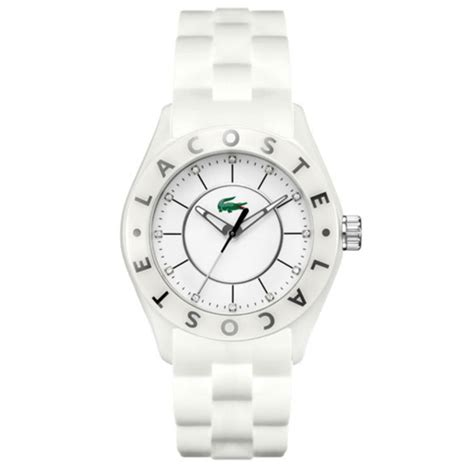 Lacoste Biarriz White Rubber lacoste men s and women s watches