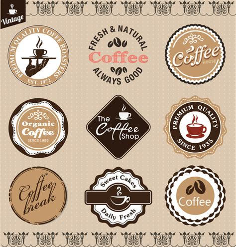 Vintage Coffee Badge Free Vector In Adobe Illustrator Ai Ai Vector Illustration Graphic Art Badge Illustrator Template