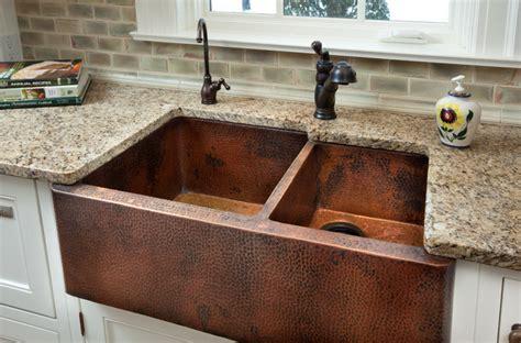 farmer sinks kitchen copper farm sink