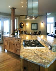 kitchen islands with stove top the stove top on the island makes it easy and