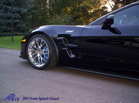 apsis corvette c6 z06 or grand sport front splash guards