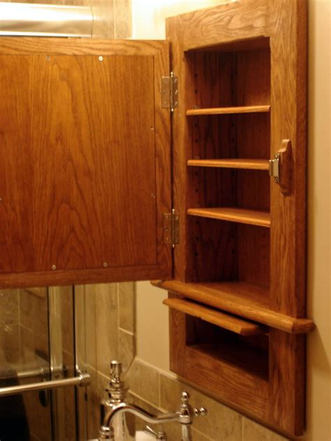 Craftsman Inspired Medicine Cabinet with Hidden