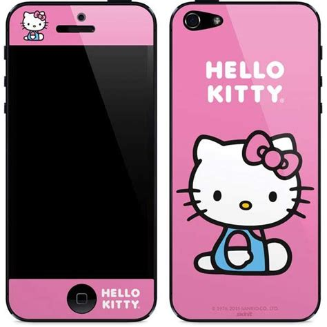 Hello For Iphone 5 hello sitting pink iphone 5 5s se skin sanrio