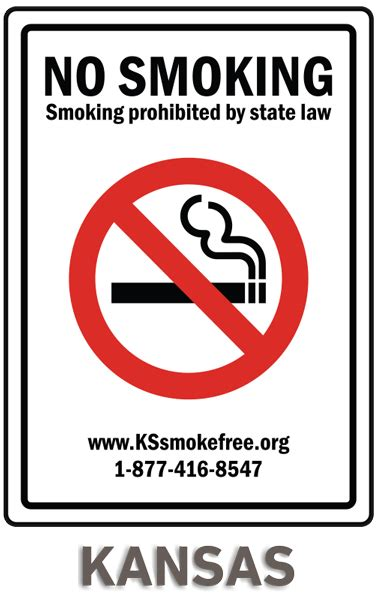 No Smoking Sign Kansas | kansas no smoking sign r5713 by safetysign com