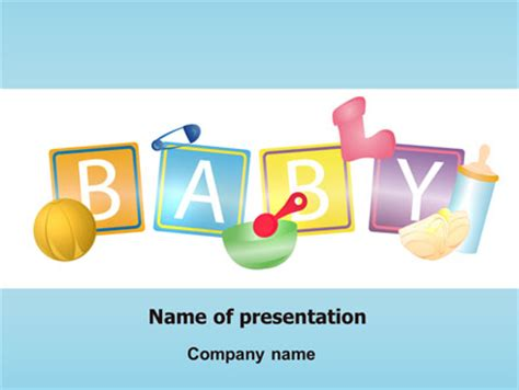 theme ppt free download baby baby theme presentation template for powerpoint and
