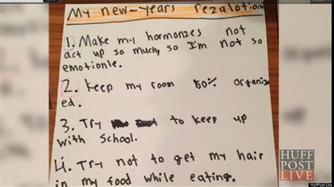 precocious 10 year old shares her resolutions for 2014