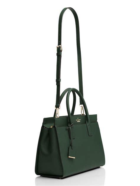 Tas Kate Spade Cameron Sreet Satchel kate spade new york cameron satchel in green lyst