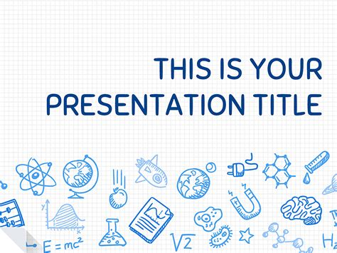 templates for science ppt this playful free presentation template uses a science