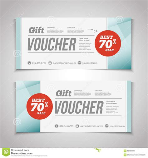 gift card flyer template abstract gift voucher or coupon design template voucher