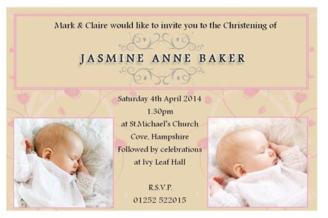 free template for baptism invitation baptism invitations free baptism invitation template