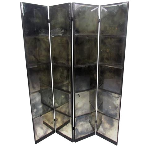 Unique Mid Century Mirrored Room Divider At 1stdibs Unique Room Dividers