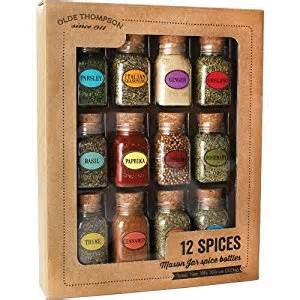 organic spice rack set olde thompson spice jar gift set 12