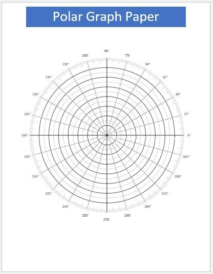 51 polar graph paper notebook 1 2 inch centered polar coordinates polar sketchbook blue cover 8 5 x 11 books sle grid paper this illustration shows a sle