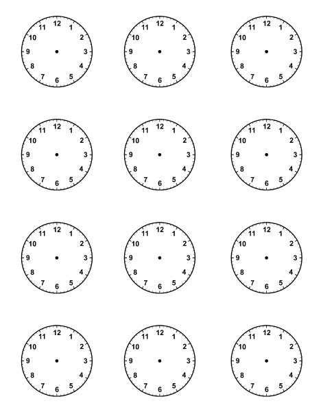 free printable clock images blank clock faces piece pinteres