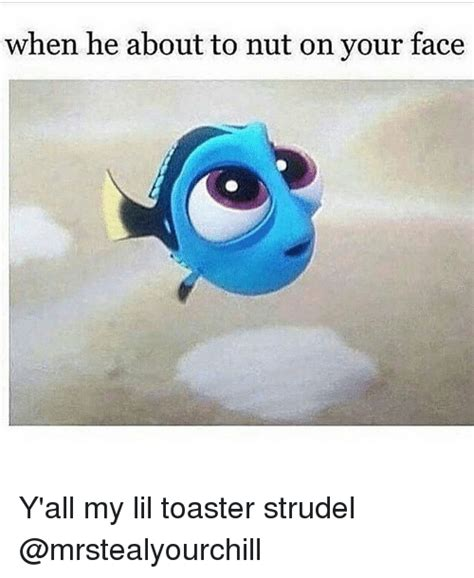 Toaster Strudel Meme - when he about to nut on your face y all my lil toaster