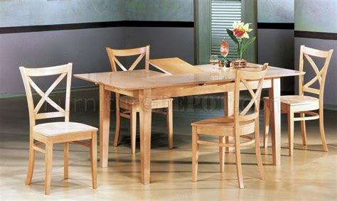 Butterfly Leaf Dining Table Set Finish Modern 5pc Dining Set W Butterfly Leaf Table