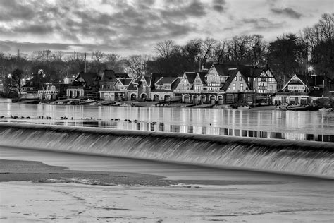 boat house pa boathouse row philadelphia pa bw photograph by susan candelario