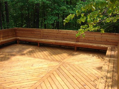 decking bench seat i ve always wanted a deck with built in seating yard