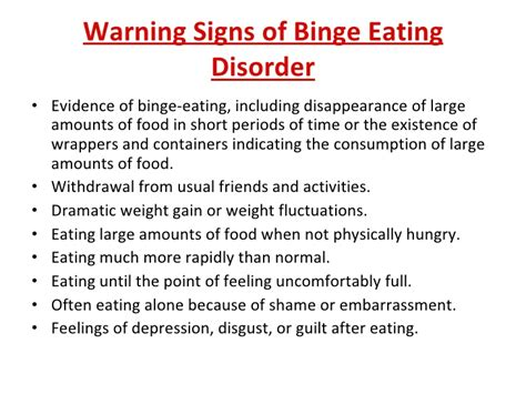bed eating disorder eating disorders symptoms and responses