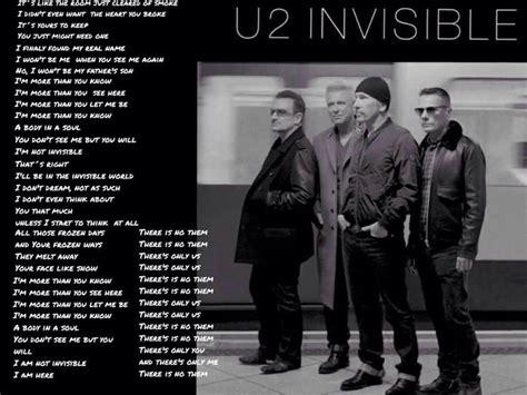testo invisible u2 the gallery for gt u2 invisible lyrics