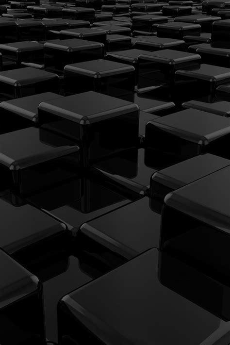 3Dブラック   iPhone壁紙ギャラリー