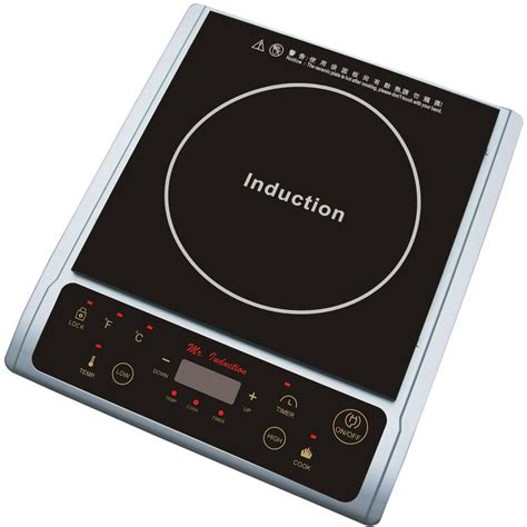 Induction Cooktop Spt 1300 Watt Countertop Induction Cooktop In Silver Sr 964ts The Home Depot