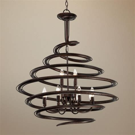 franklin iron works lighting franklin iron works bronze 30 3 4 quot wide swirl chandelier
