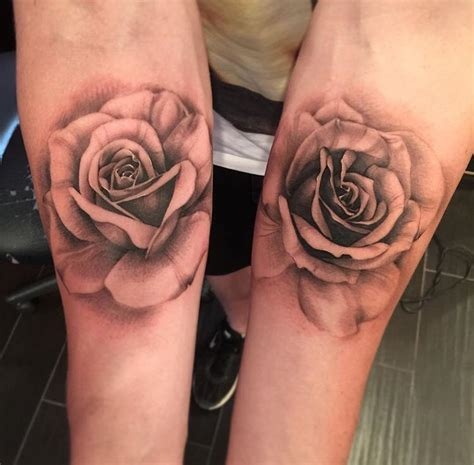 black n white rose tattoos realistic style black n white tattoos