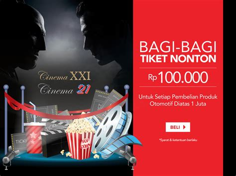 Tiket Xxi One Belpark promo gratis tiket nonton xxi blibli