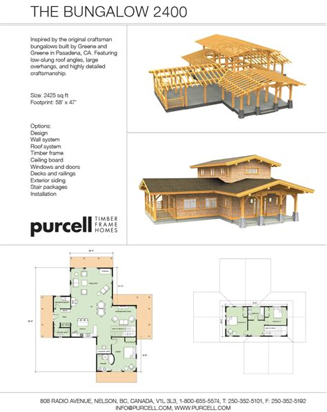 Bungalow Floorplans purcell timber frames the precrafted home company