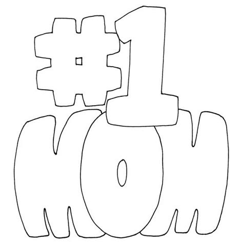 coloring pages for mom number one mom coloring page printables patterns