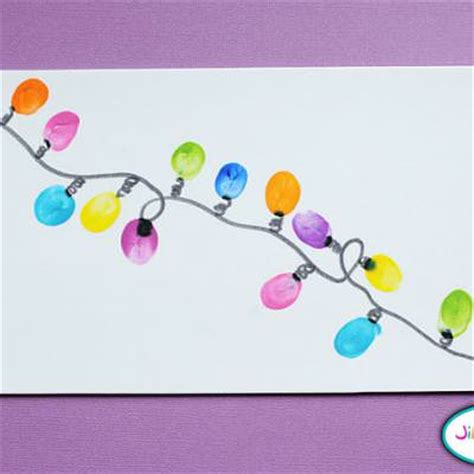 thumbprint christmas lights kids crafts tip junkie