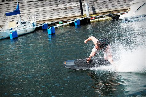 wakeboarding without boat this electric wakeboard lets you wakeboard without a