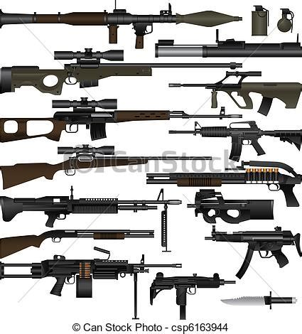 Weapon Graphics 5 eps vector of weapon layered vector illustration of