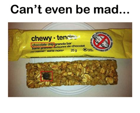 Nature Valley Granola Bar Meme - can t even be mad chewy teni in chocolate chip granola bar