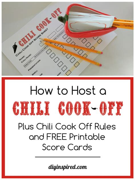 chili cook off ballot template just b cause