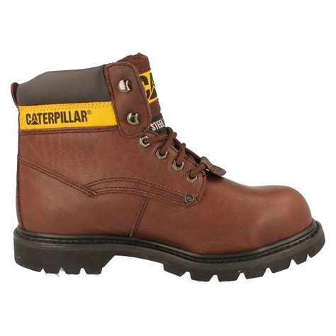 mens caterpillar work boots mens caterpillar steel toe safety work boots the style