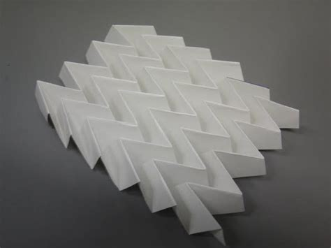 Origami Physics - the miura fold miura ori is a rigid fold that has been